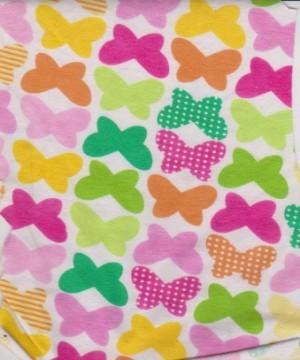 Multicolor Butterflies on Cotton Lycra Jersey