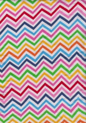 MulticolorChevron on Cotton Lycra Jersey
