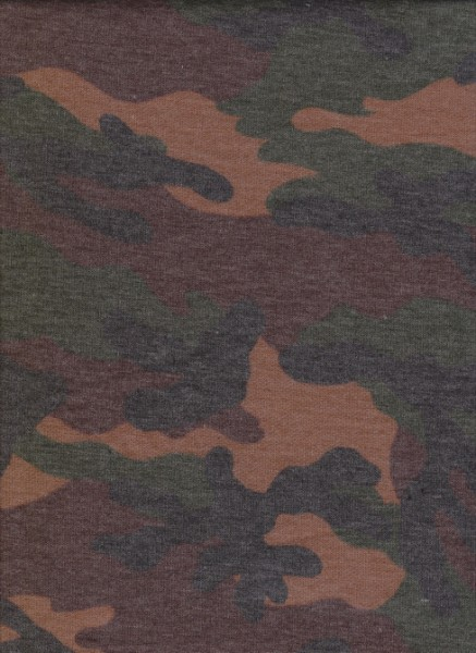Camo On Rayon Poly Lycra French Terry