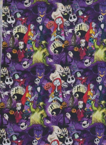 Skull Party on Cotton Lycra Jersey