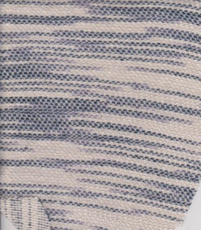 Blue Wavy Stripe on Cotton Novelty Knit