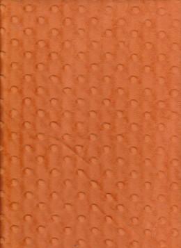 Dimple Minky Dots- Orange