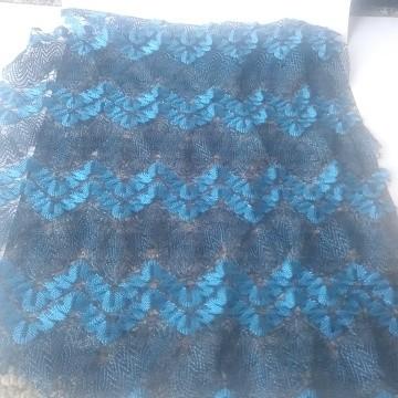 Chevron Lace Overall Blue