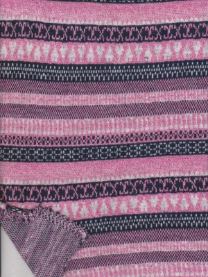 Pink Tone Authentic Stripe on  Double Knit Cotton