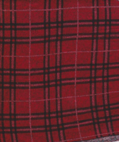 PLAIDS Red and Black on Hacci  (SweaterKnit)