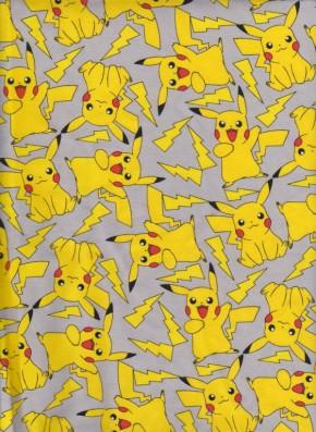 Pokemon is on Gray Cotton Lycra Jersey