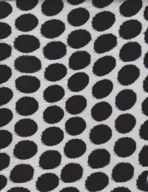 Black and White Polya Dots on Poly Lycra Jersey