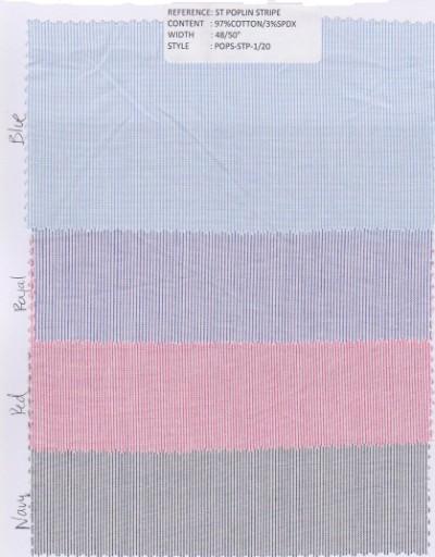 Stretch Poplin Stripe Colors