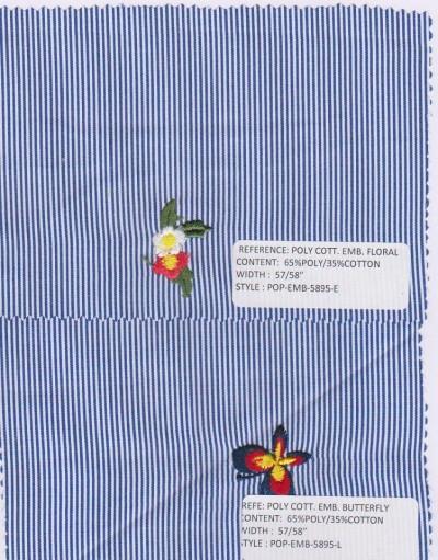 POPLIN  Stripe and Embroidery