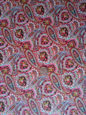 Paisley on Double Brushed Poly Lycra Jersey