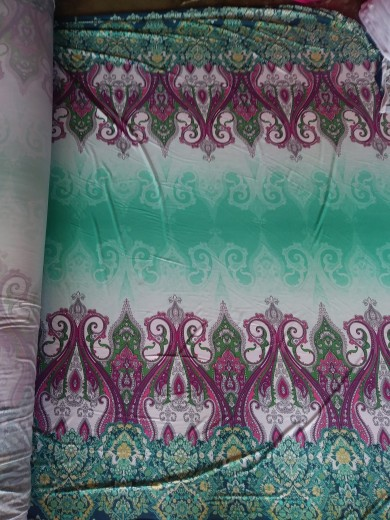 Paisley Border Print on ITY