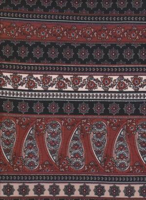 Paisley Stripe on Double Brushed Poly Lycra Jersey