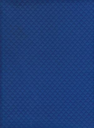 Quilt Knit- ROYAL BLUE  Cotton Lycra