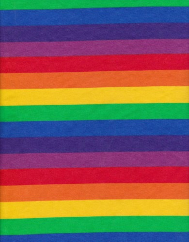 Rainbow Stripe on Cotton Lycra Jersey