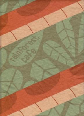 RAINFOREST CAFE Diagonal Print on Cotton Jersey
