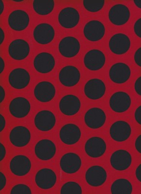 Red and Black Polka Dots on Cotton Lycra Jersey