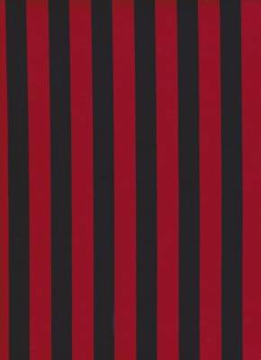 Red and Black Vertical Stripe on Cotton Lycra Jersey