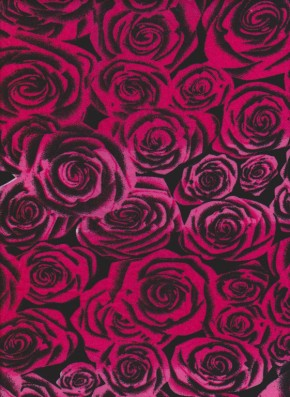 Roses on Double Brushed Poly Lycra Jersey