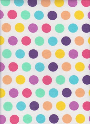 Spring  Polka Dots on Cotton Lycra Jersey