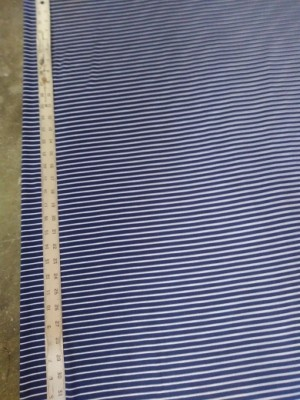 DOUBLE BRUSHED STRIPE- NAVY  AND WHITE