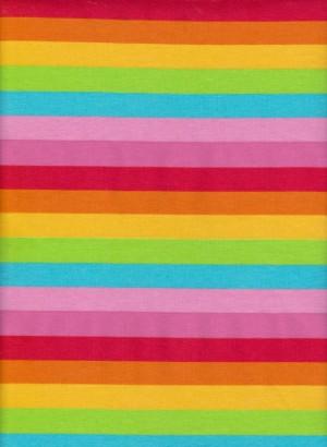 Summer Stripe on Cotton Lycra Jersey