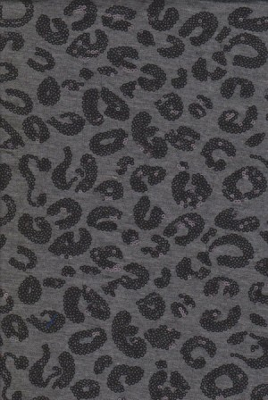Sequins Cheetah on Charcoal Jersey