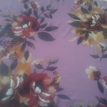 Shabby Flowers on Dusty Pink ( Mauve) Double Brushed Poly Lycra