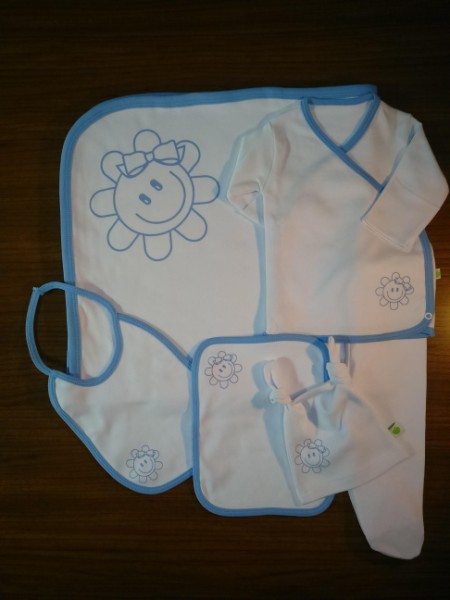Smile Baby Boy ( Blue) NewBorn Baby Boy Set- 6 Pcs Set