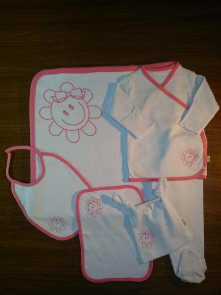 Smile Baby Girl ( Pink ) NewBorn Baby Girl Set- 6 Pcs Set