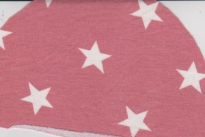 Stars on Blush Pink Double Brushed French Terry Knit