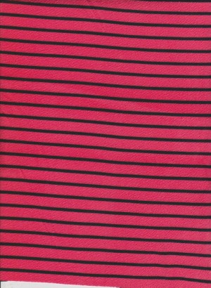 Stripe-Coral and Black on Liverpool