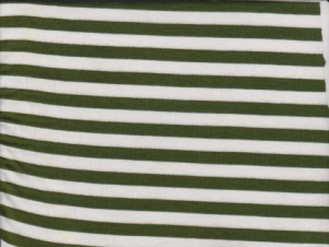Stripe- Green and White on Rayon Lycra Jersey