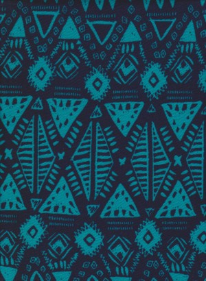 Triangles on Blue and Navy Liverpool