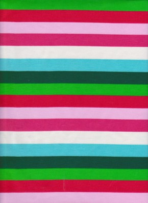 CHRISTMAS STRIPE on Cotton Lycra Jersey