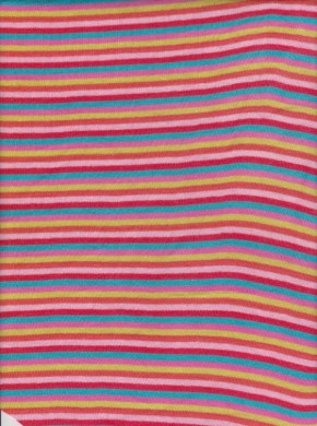 Yarn Dyed Stripe Rib Lycra-Multicolor 3
